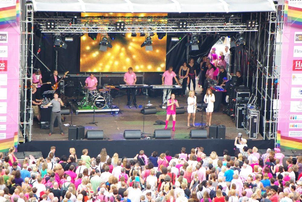 Optreden op een Haarlems podium